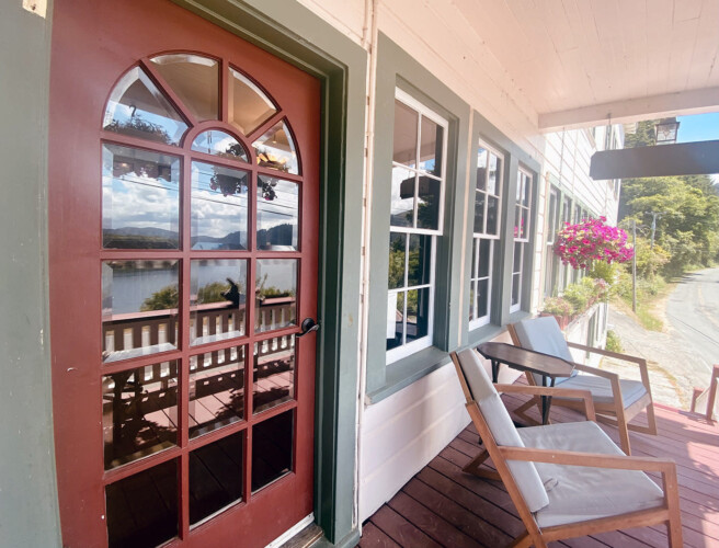 Requa Inn ~ Cathedral Trees Room ~ River Front View